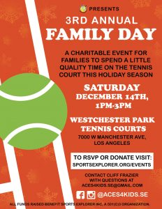 3rd Annual Family Day @ Westchester Park Tennis Courts